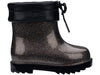 Mini Melissa Rain Boot Black Multi Glitter (32424/53402) *Clearance*