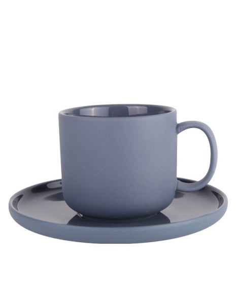 Emerson-Tea Cup & Saucer (Denim Blue) *Clearance*