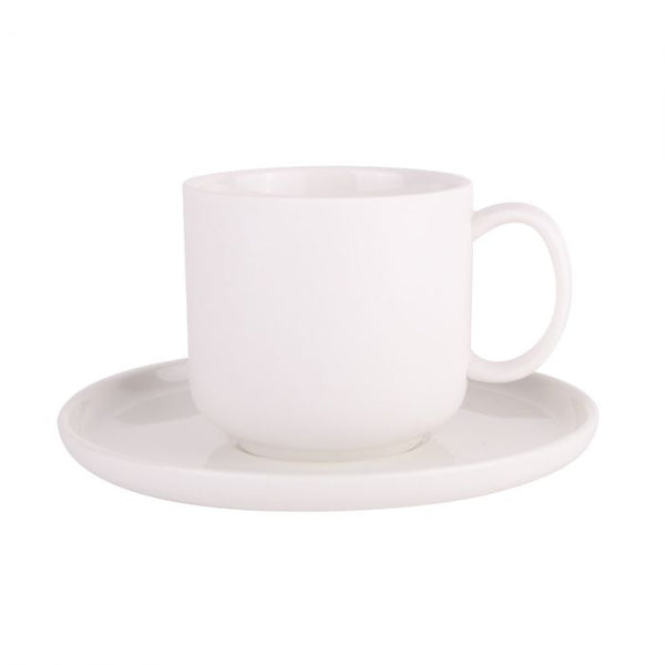 Emerson-Tea Cup & Saucer (White) *Clearance*