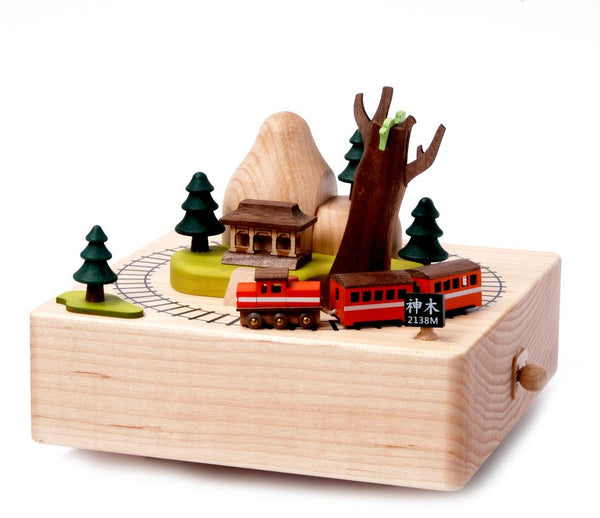 City Wooden Music Box-Taiwan Alishan 1pc
