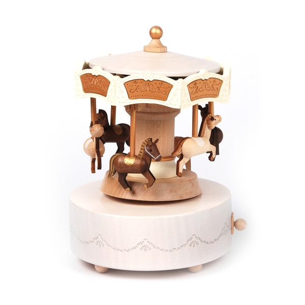 Double Around Up & Down Music Box-Carousel 1pc