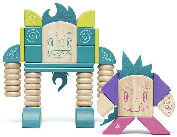 Tegu Magnetic Block Set-Sticky Monsters-Beans& TumTum