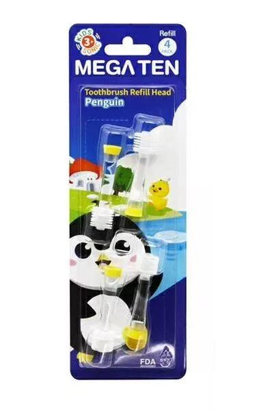 Vivatec-Mega Ten Kids Sonic Toothbrush Refill Head*4