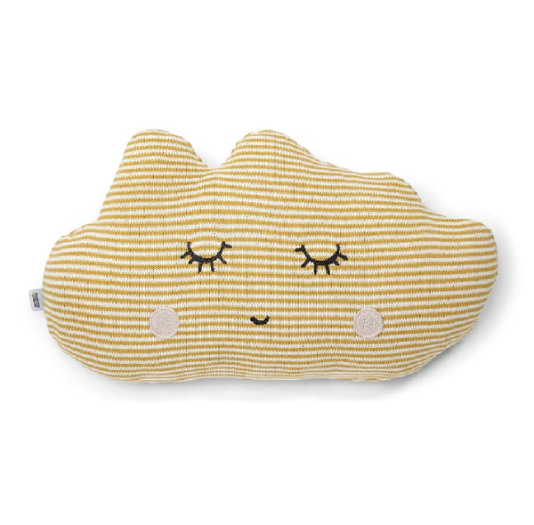 Mamas & Papas- Knitted Cushion Yellow Cloud
