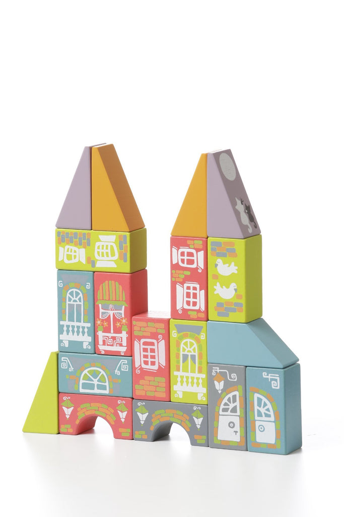 Cubika Wooden Toys Fabulous City 18pcs