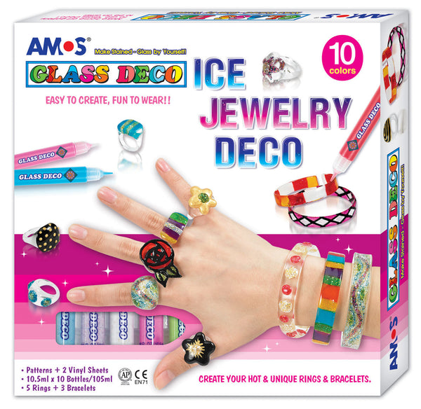 Amos-Glass Deco Jewelry