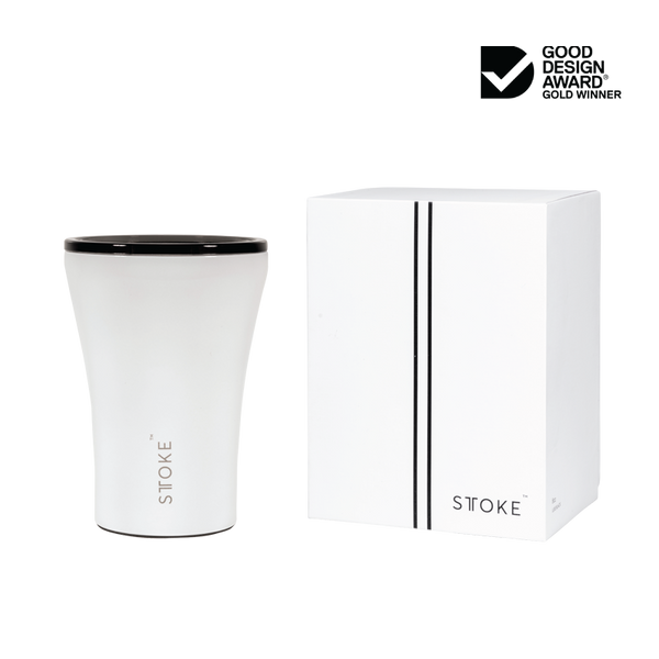 STTOKE Ceramic Reusable Cup 8oz (227ml) - Angel White