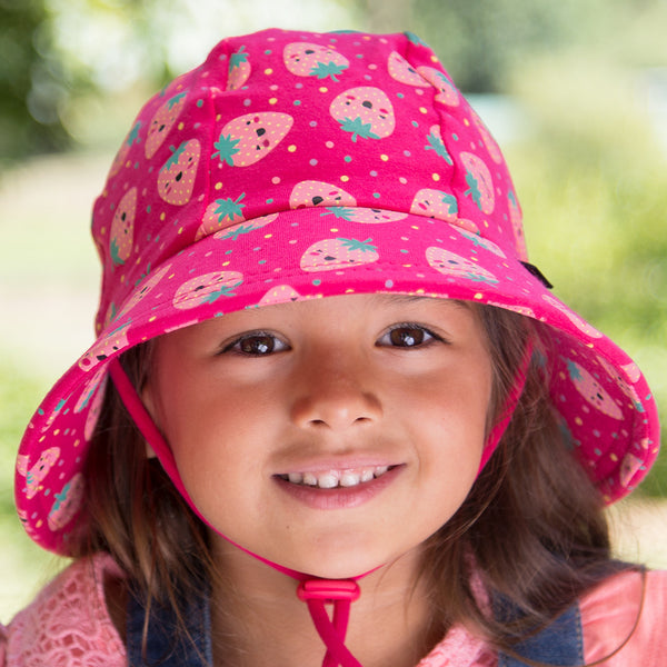 Girls Bucket Hat 'Strawberries' Print
