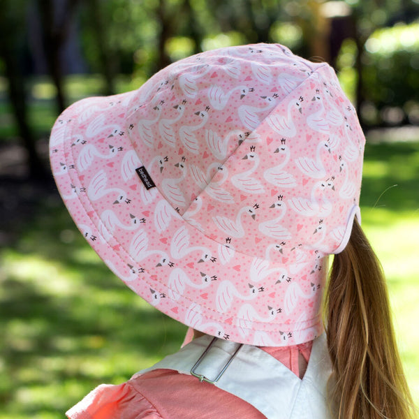 Girls  Bucket Hat 'Swan' Print