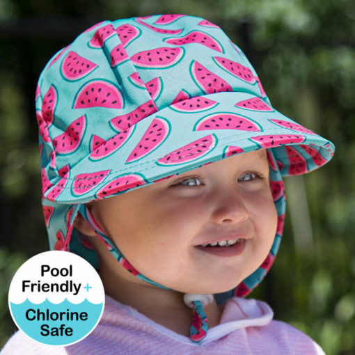 Beadhead Girls Beach Legionnaire Hat UPF50+ 'Watermelon' Print