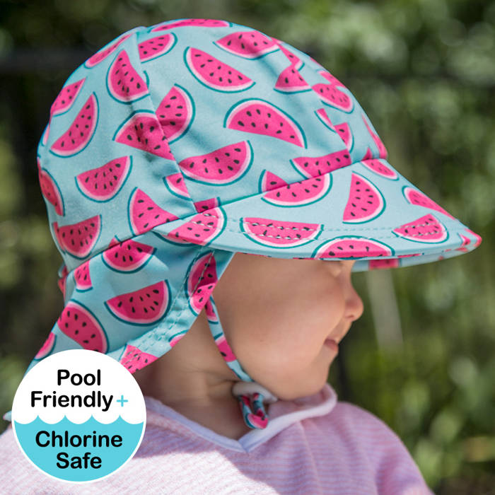 Bedhead Girls Beach Legionnaire Hat UPF50+ 'Watermelon' Print