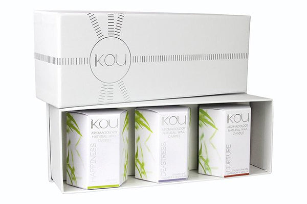iKOU Aromacology Small Candle Glass Trio