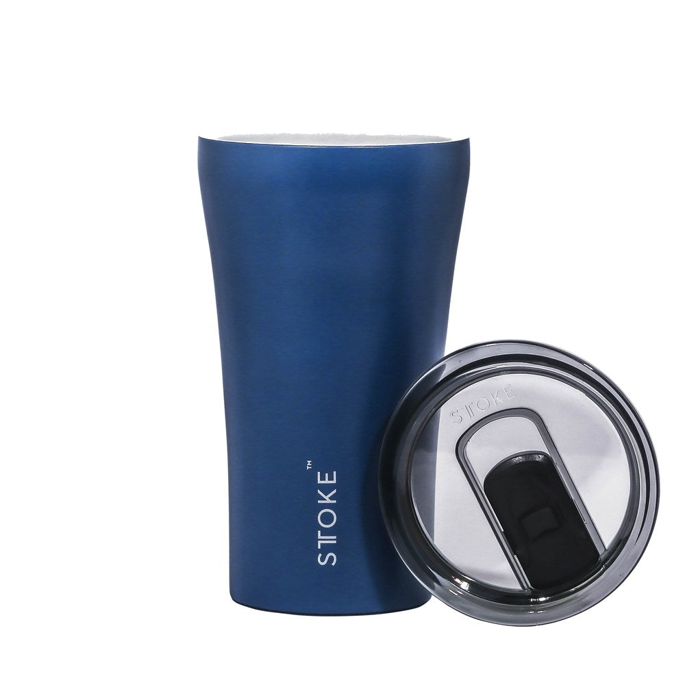 STTOKE Ceramic Reusable Cup 12oz (354ml) - Magnetic Blue