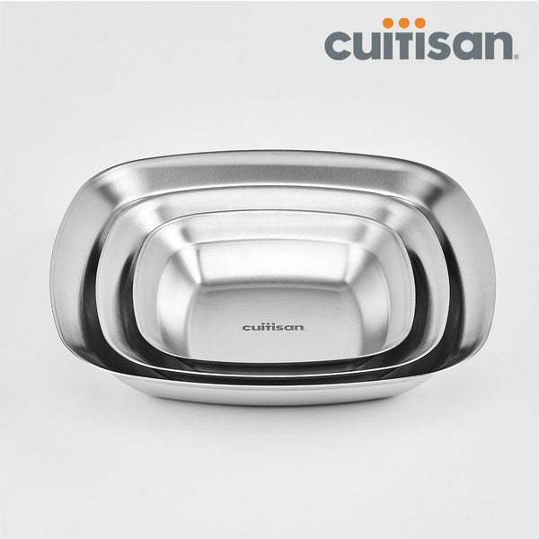 Cuitisan- Rectangle plate 3pc set