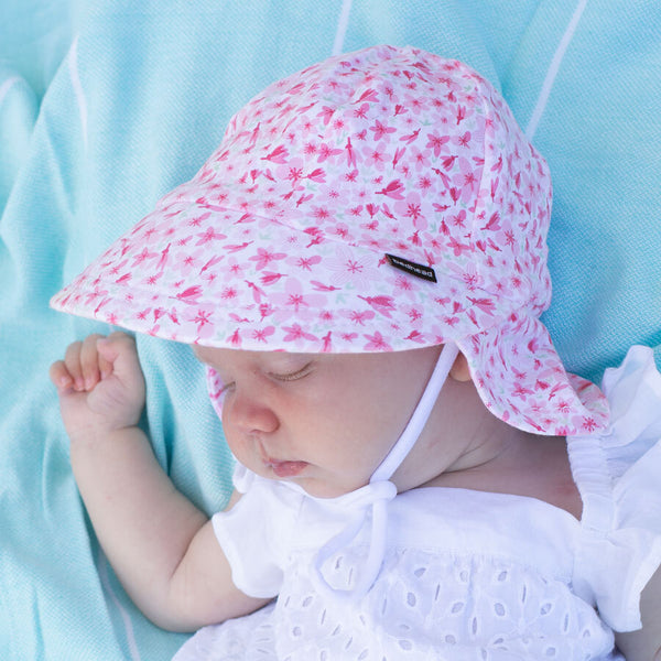Girls Legionnaire Hat 'Cherry Blossom' Print