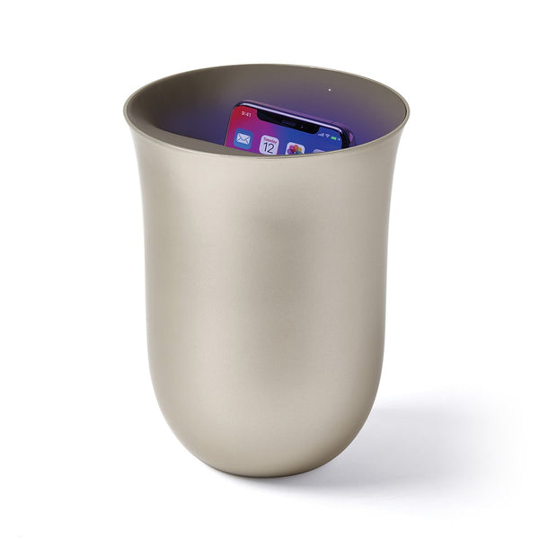 Lexon Oblio Wireless charging station with built-in UV sanitizer - Gold