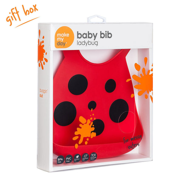 Make My Day Baby Bibs - Lady Bug