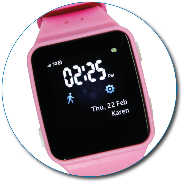 TicTocTrack 3G Tracking Watch - Pink