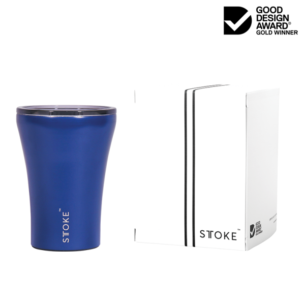 STTOKE Ceramic Reusable Cup 8oz (227ml) - Magnetic Blue