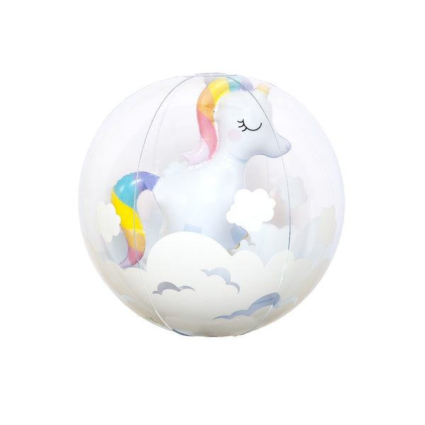 Inflatable Beach Ball 3D UNICORN