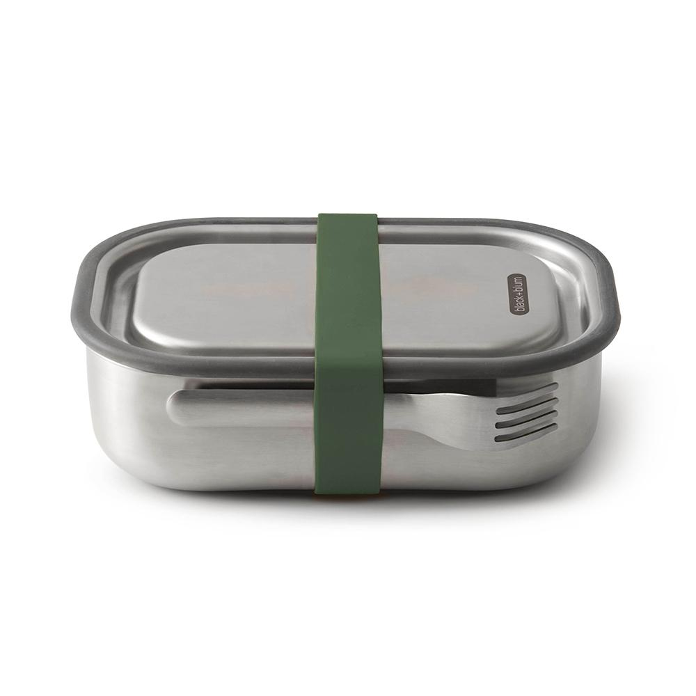 Black + Blum Stainless Lunch Box Olive Green 1L