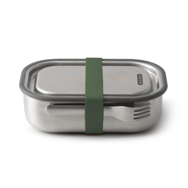 Black + Blum Stainless Lunch Bento Box Olive Green 1L