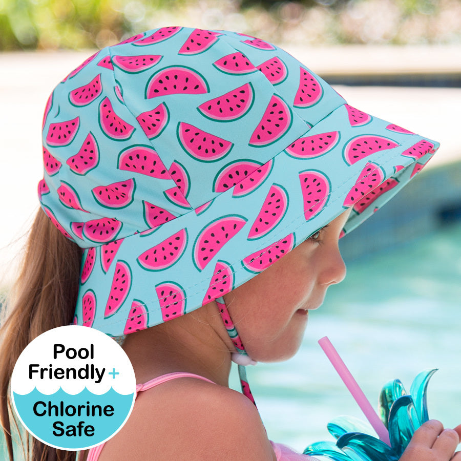 Girls Beach Bucket Hat UPF50+ 'Watermelon' Print