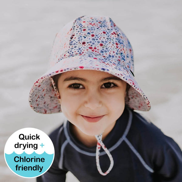 Bedhead Girls Beach Hat Bucket UPF50+ 'Posie' Print