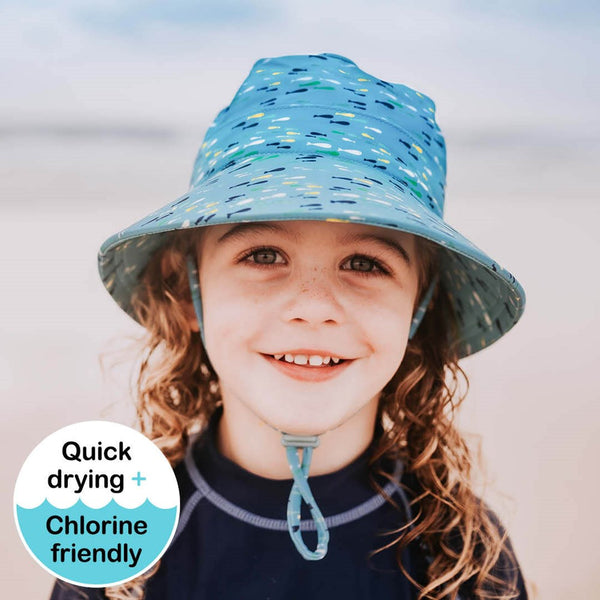 Bedhead Boys Beach Hat Bucket UPF50+ 'Fish' Print