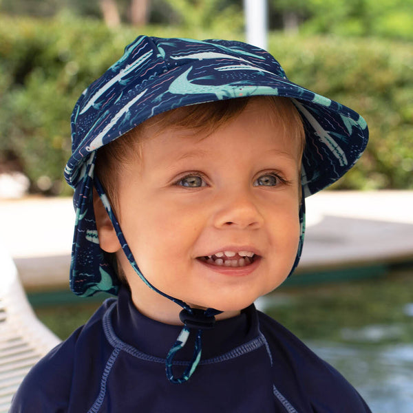 Boys Beach Legionnaire Hat UPF50+ 'Crocodile' Print