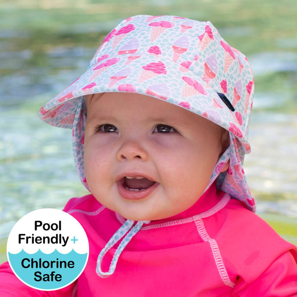 Girls Beach Legionnaire Hat UPF50+ 'Ice Cream' Print