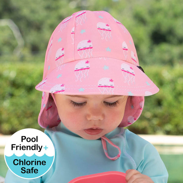 Girls Beach Legionnaire Hat UPF50+ 'Jellyfish' Print