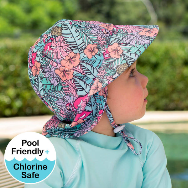 Girls Beach Legionnaire Hat UPF50+ 'Tropical' Print
