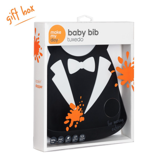 Make My Day Baby Bibs - Tux