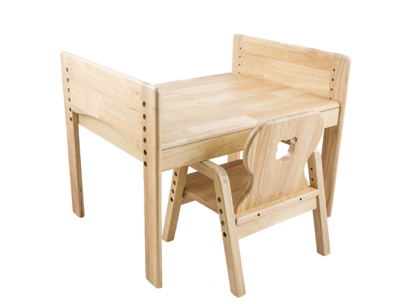 MesaSilla Adjustable Wooden Table and Chair Set