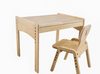 Adjustable Wooden Table and Chair Set