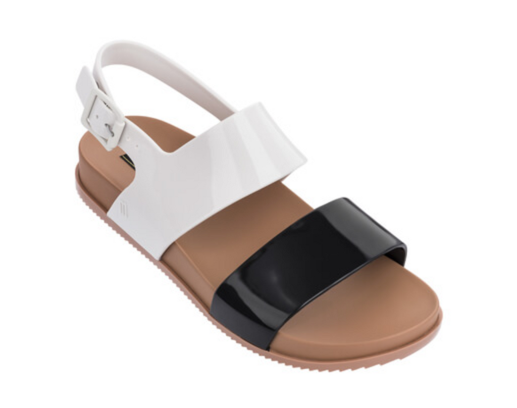 Mel Melissa Cosmetic Sandal Infant Black/Beige Gloss (32502/52909)