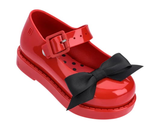 Mini Melissa Maggie Bow Red Gloss (32440/53379) *Clearance*
