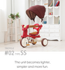iimo- Kid Tricycle with Cover #02SS (Eternity Red)