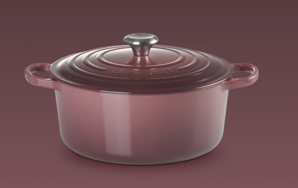 Le Creuset- Fig Collection Signature Round Casserole 24 SSKnob