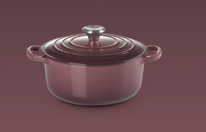 Le Creuset- Fig Collection Signature Round Casserole 20 SSKnob