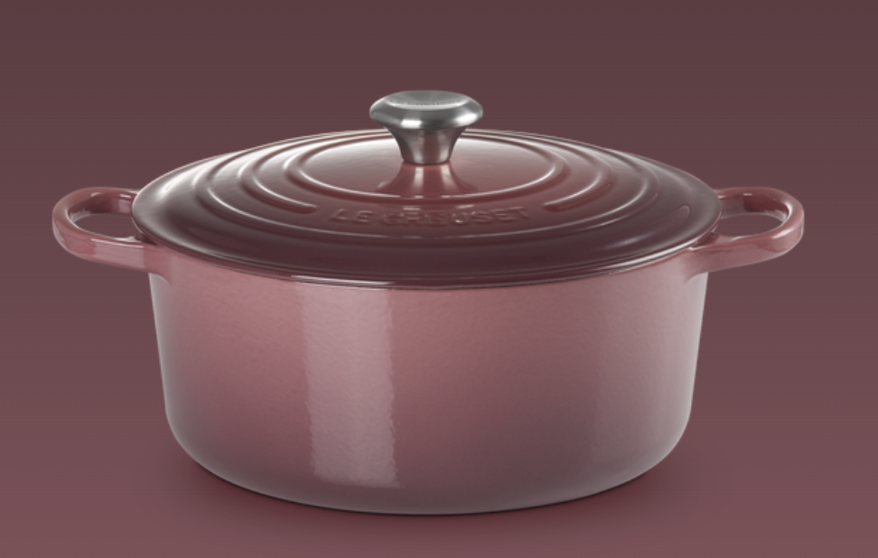 Le Creuset- Fig Collection Signature Round Casserole 28 SSKnob
