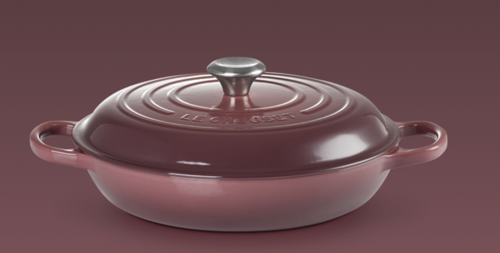Le Creuset- Fig Collection Signature Shallow Casserole 30 SSKnob