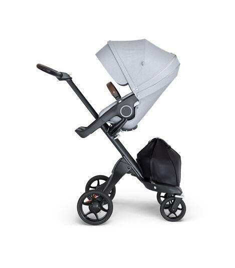 Stokke® Xplory® 6 Black Chassis (Black Leatherette Handle)+seat pad