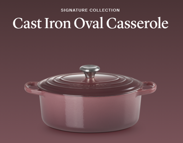 Le Creuset- Fig Collection Signature Oval Casserole 29 SSKnob