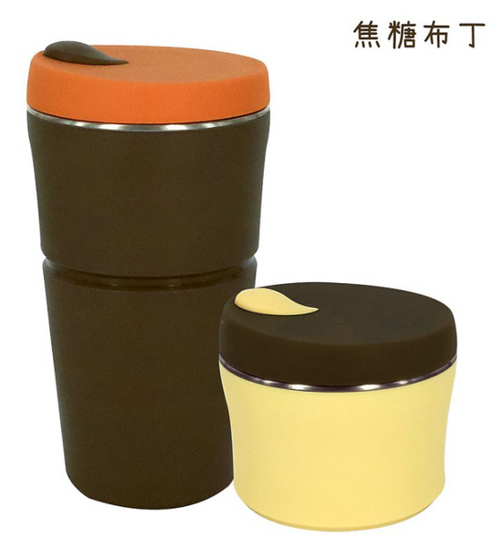 Cheers Cup - 750ml 巧力布丁杯 Caramel Pudding - (水滴蓋 Raindrop Shape)