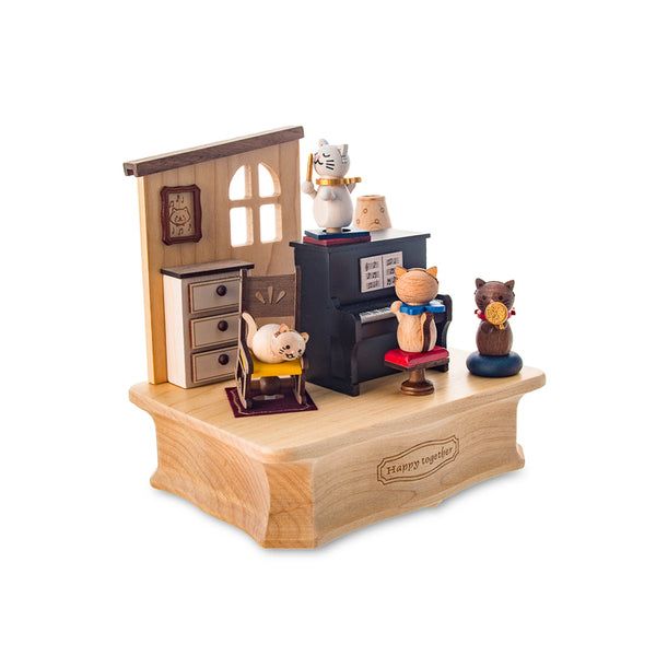 Swaying Music Box-Cat Play Piano 1pc