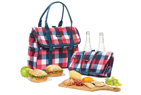 Pack It-Freezable Picnic Tote Bag (Buffalo Check)