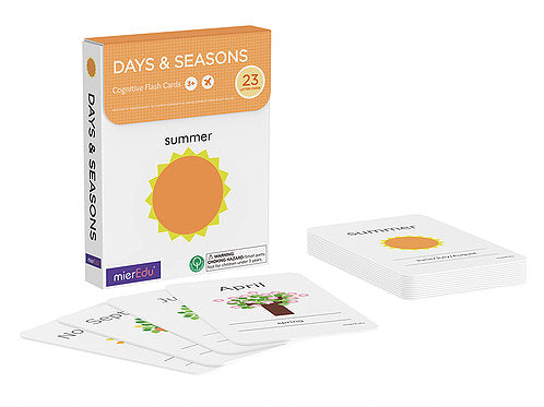 Mieredu Cognitive Flash Cards - Days & Seasons *Clearance*