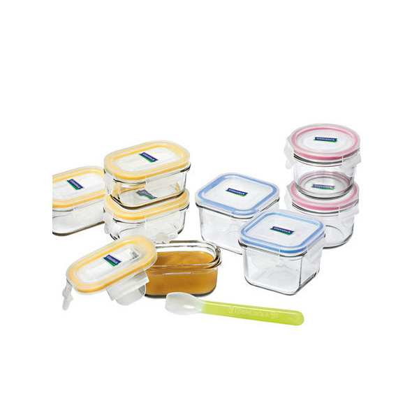 Glasslock Baby Feeding Container Set 9 Piece